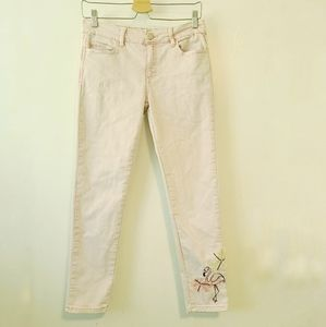DESIGUAL EXOTIC JEANS Flamingo Pink Jeans 28